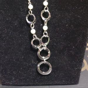 Silver Necklace w/ Earrings